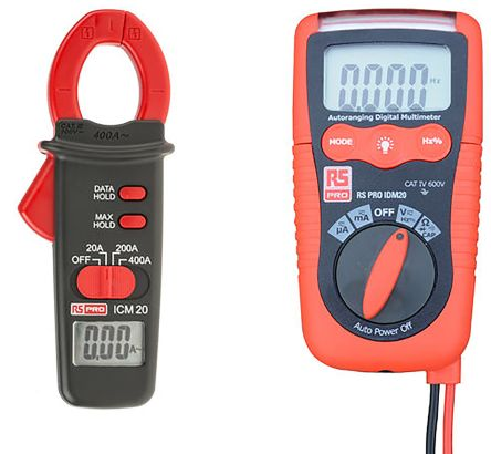 RS Pro ICM20 Clampmeter, IDM20 Digital Multimeter Kit