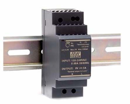 Power Supply; AC-DC; DIN Rail; 36W; 24V; 1.5A; 85-264V In; Industrial