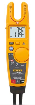 Fluke T6-1000 Handheld Digital Multimeter, 200A ac 1000V ac 1000V dc with RSCAL calibration