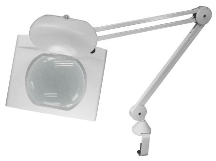 RS PRO LED Magnifier Lamp with Table Clamp Mount, 3dioptre, 190 x 160mm Lens