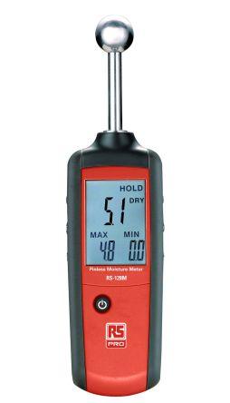RS PRO RS-128M Moisture Meter, Maximum Measurement 100%