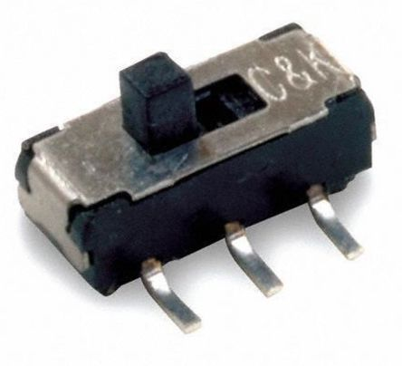 Surface Mount Slide Switch Single Pole Double Throw (SPDT) Latching 300 mA Slide product photo