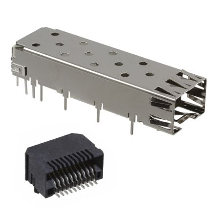 SFPK Series Right Angle SFP Cage, Solder Termination product photo