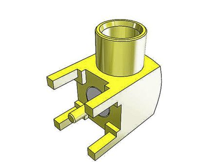 MCXSeries, Right Angle Through Hole MCX Jack, 50O Impedance, Solder Termination, 0 -> 6GHz product photo
