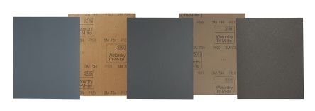 3M Silicon Carbide Very Fine Abrasive Sheet, 320 Grit, 230mm x 280mm