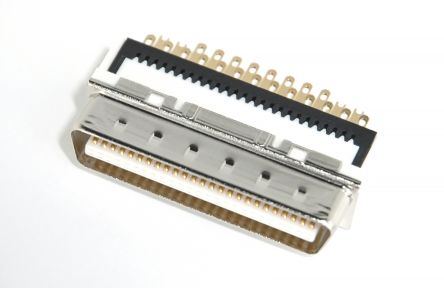 DX Series, Male 50 Pin Straight Cable Mount SCSI Connector 1.27mm Pitch, Solder product photo