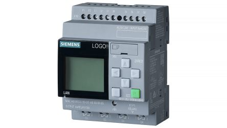Siemens LOGO! 8.2 Logic Module, 24 V dc, 8 x Input, 4 x Output With Display