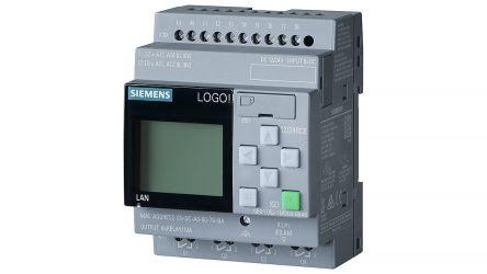 Siemens LOGO! 8.2 Logic Module, 12 → 24 V dc, 8 x Input, 4 x Output With Display