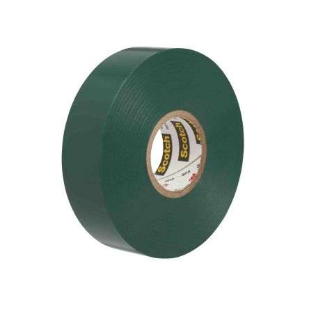 3M Green Electrical Tape, 19mm x 20m