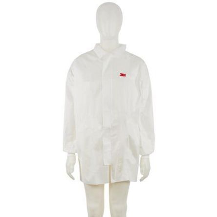 3M White Disposable Lab Coat, S