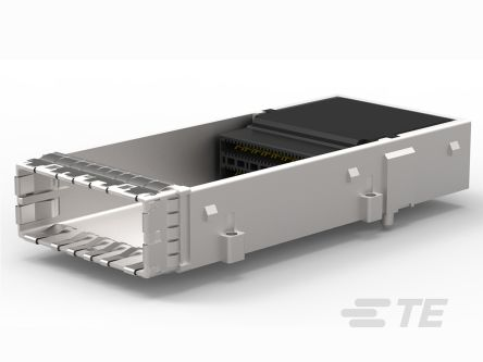 TE Connectivity, CDFP 60 Way 1 Port Female Right Angle Cage Assembly 0.75mm Pitch Press-In Termination