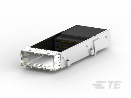 TE Connectivity, RCPT 1 Port Female Right Angle Cage Assembly 0.75mm Pitch Press-In Termination