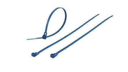 Metal content tie release 250x4.5mm blue
