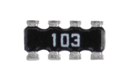 100 pieces Resistor Networks /& Arrays 1K 1/% Concave 4resistors