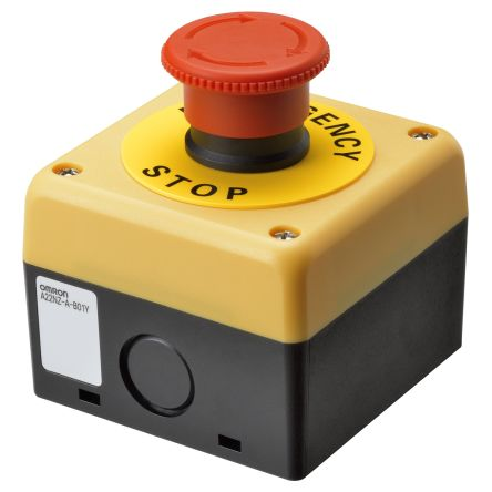 A22NE, Red, Turn reset 40mm Round Head Emergency Button product photo