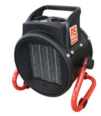 2kW Fan Heater, Floor Mounted, Type C - European Plug