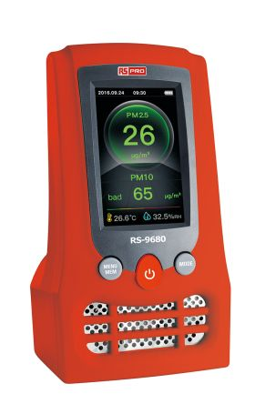 RS PRO RS-9680 Air Quality Meter, Battery-powered
