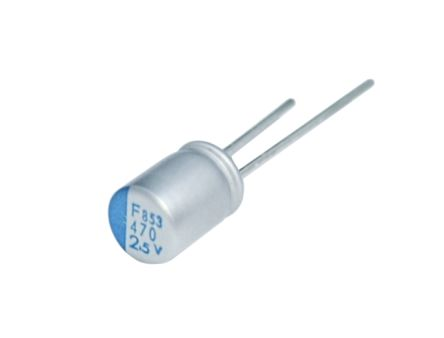 Nippon Chemi-Con 470μF Polymer Capacitor 16V dc, Through Hole - APSF160ELL471MJB5S