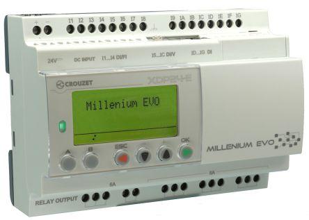 Crouzet XDP24-E PLC CPU, Ethernet Networking Ethernet, USB Interface, 2k  Octet Program Capacity, 16 (Digital) Inputs, 8