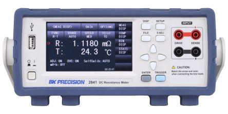 BK Precision 2841 Ohmmeter, Maximum Resistance Measurement 110 MΩ, Resistance Measurement Resolution 100nΩ,