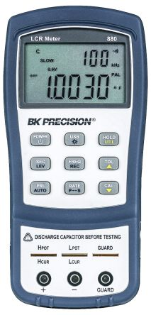 BK Precision, Model BK880 LCR Meter 20mF, 10 MΩ, 1kH Handheld Type