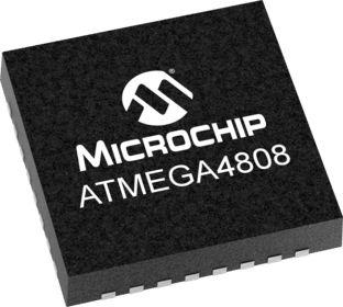 Microchip Technology ATmega4808-MFR, 8bit Microcontroller, 20MHz, 48 kB Flash, 32-Pin QFN