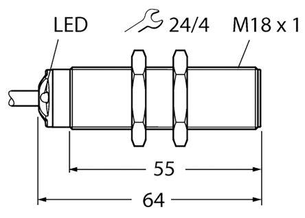 RU50U-S18-AP8X Turck   Turck S18 Ultrasonic Sensor - Barrel, PNP Output, 50  → 500 mm Detection, IP67   175-7680   RS Malta Online   Turck Sensor Wiring Diagram Pnp      RS Components