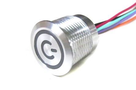 Capacitive Touch Switch, Lock ,Illuminated, RGB, IP68