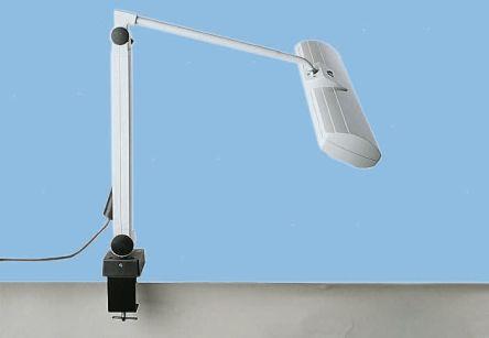 Waldmann Fluorescent Tube Desk Lamp, 18 W, Grey, 230 V ac