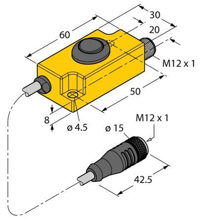 Turck Programming Module Teach Adapter for use with Li-Q17L Position Sensors, Li-Q25L Position Sensors, Ri-QR14