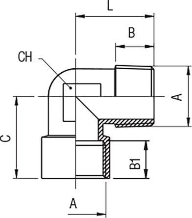 LDR Industries 517E90-38 3//8 Nylon Elbow