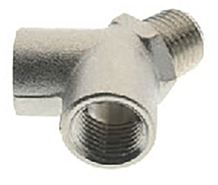RS PRO Pneumatic Double Y Threaded-to-Tube Adapter