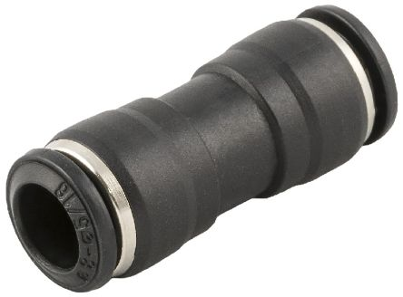 Pneumatic Straight Tube-to-Tube Adapter, Push In 10 mm product photo