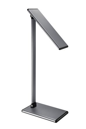 RS PRO Fixed LED Desk Lamp, 8 W, Reach:400mm, Black, Grey, 12 V dc, 100 → 240 V ac, Lamp Included