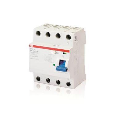 ABB 2 Pole Residual Current Circuit Breaker, 63A F200, 30mA