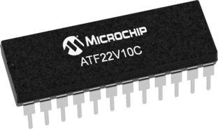 Microchip Technology ATF22V10C-10PU, SPLD Simple Programmable Logic Device ATF22V10C 500 Gates, 10 Macro Cells, 22 I/O,
