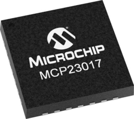 Microchip Technology MCP23017T-E/ML, 16-Channel I/O Expander 10MHz, I2C, 28-Pin QFN