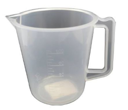 Polyprop moulded graduation jug,100ml
