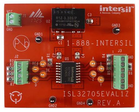 Renesas Electronics ISL32705EVAL1Z for use with RS-485 Transceiver