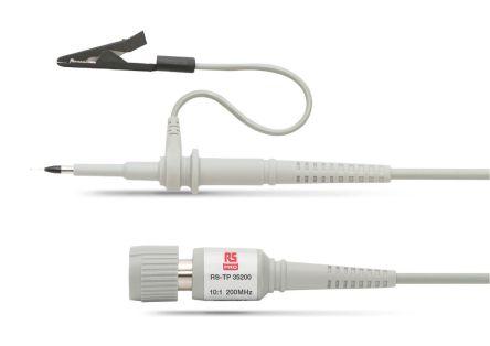 RS PRO Oscilloscope Probe, Probe Type: Passive 200MHz 10:1