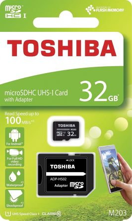 Karta Micro SD MicroSD, 32 GB, Toshiba, THN-M203K0320EA