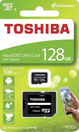 Karta Micro SD MicroSD, 128 GB, Toshiba, THN-M203K1280EA