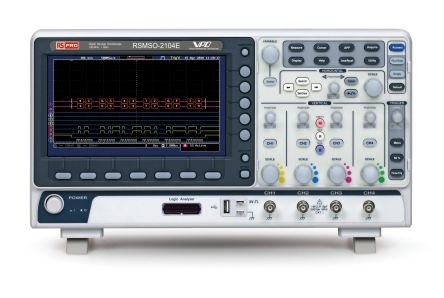 RS PRO RSMSO-2104E Mixed Signal Oscilloscope, 100MHz, 4 Analogue. Ch.