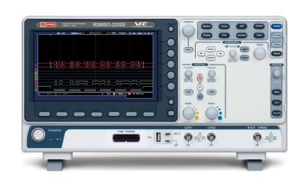 RS PRO Mixed Signal Oscilloscope, 200MHz, 2 Analogue. Ch., With RS Calibration