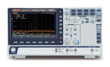 RS PRO RSMDO-2102EG Mixed Domain Oscilloscope, Digital Storage, 2 Channels, 100MHz, 120000 wfms/s
