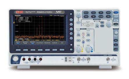 RS PRO RSMDO-2102EX Mixed Domain Oscilloscope, Digital Storage, 2 Channels, 100MHz, 120000 wfms/s