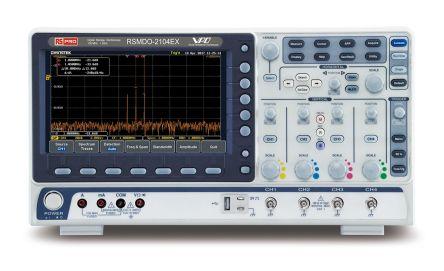 RS PRO RSMDO-2104EX Mixed Domain Oscilloscope, Digital Storage, 4 Channels, 100MHz, 120000 wfms/s