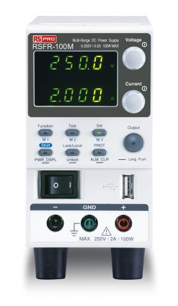 RS PRO Digital, Bench Power Supply, 100W, 1 Output , 0 → 250V 2A