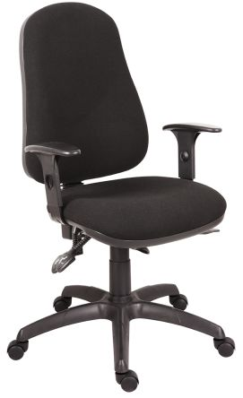 RS PRO Fabric Executive Chair Black