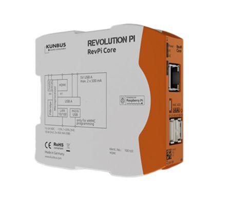 Kunbus Revolution Pi, 28.8 V, 1.2 GHz, 1 (RAM) GB, 4 (Flash) GB, Polycarbonate, IP20